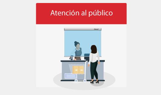 Mamparas para atención al público
