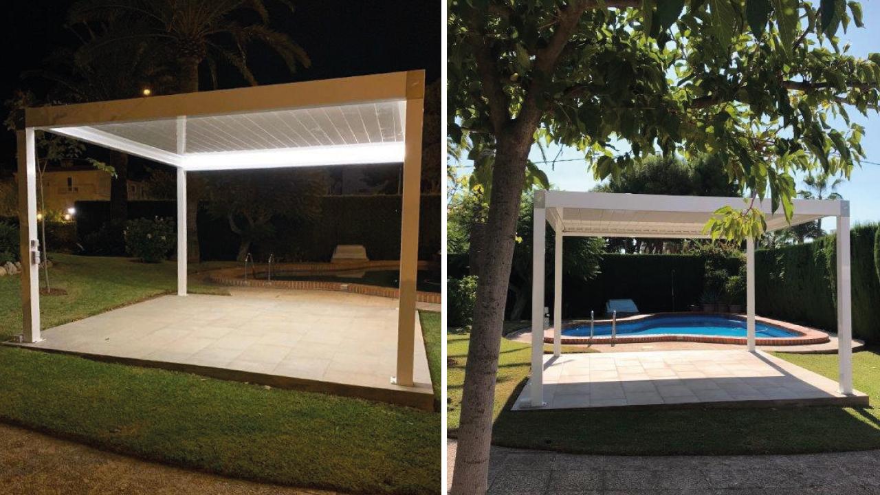 Ventajas de instalar pérgolas bioclimáticas en tu terraza o jardín, también en invierno.